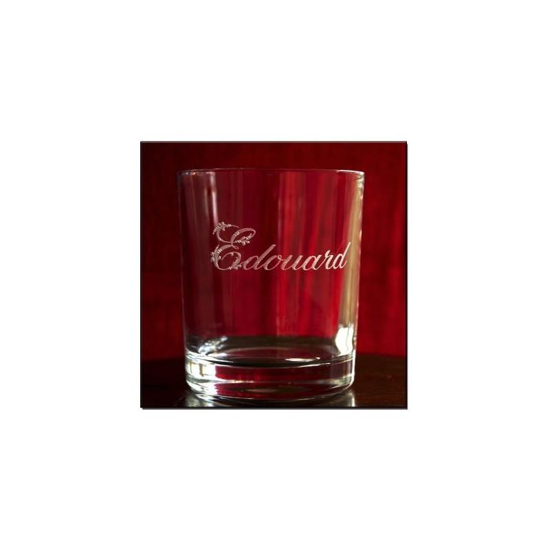 Verre whisky cristal grav au pr nom d cor mod le austin - Verre a whisky cristal ...